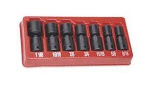 jeu de douilles à rotules à choc snap on mm 6 pans 12 pièces